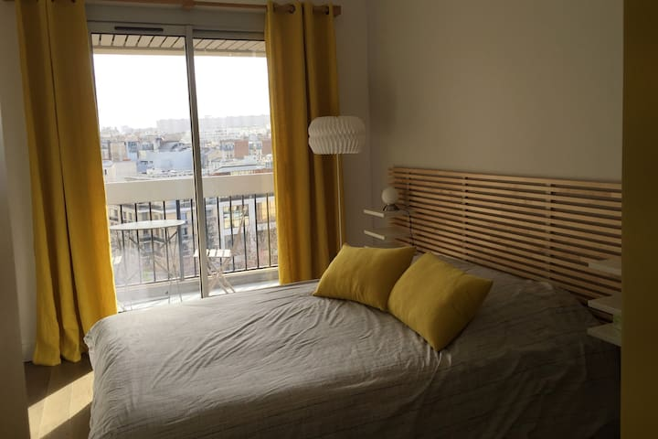 Private  bedroom (1 or 2 persons) Paris 15e - Paris - Apartamento