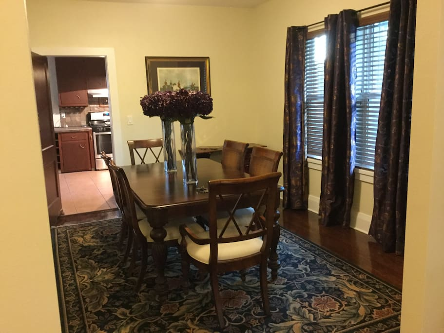 Dining room - great for having friends over.