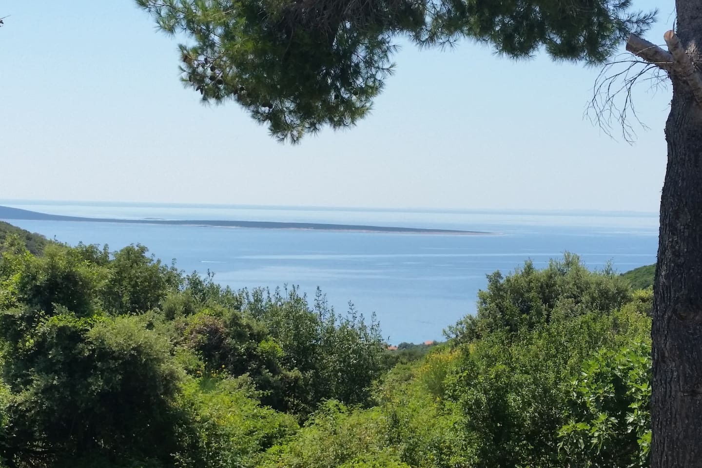 A view from our house towards Marascica bay