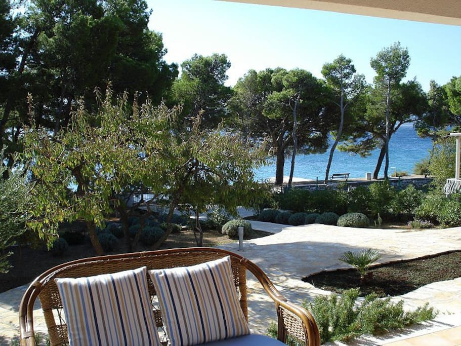 terrace with viw to the sea and beach