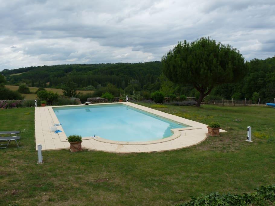 La piscine partagée 14m x 7m