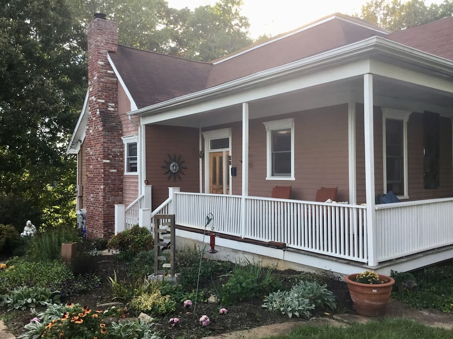 Welcome to our 1895 home featured in Cabins and Castles. Located at the end of a dead end street in the middle of it all, you'll be amazed at how serene and peaceful our homestead in Asheville feels.