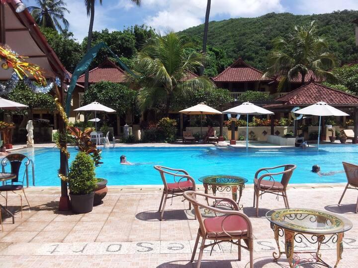 Villa Cempaka Poolside.  Award Winning Resort