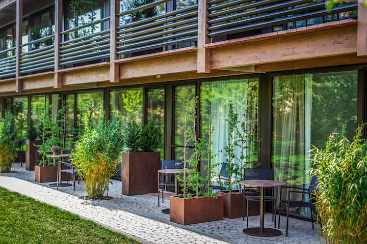 Boardinghouse Bodensee, (Gaienhofen), Superior Apartment, 50qm, Terrasse, 2 Schlafzimmer, max. 3 Personen
