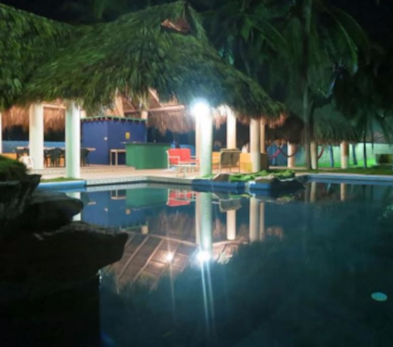 Swimming pool at night 1