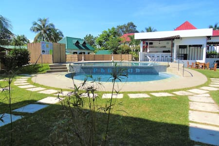 Private clean white beach and pool near Boracay