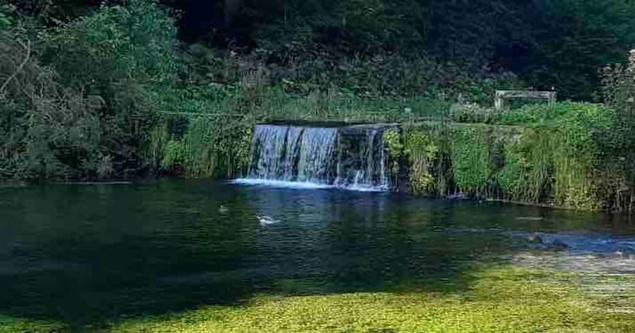 River Lathkill crystal clear waters