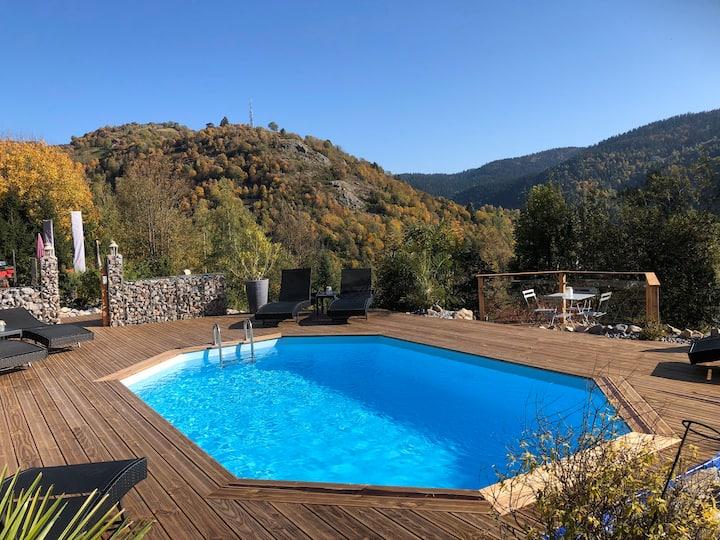 Appart 3 pers avc piscine chauffée, vue magnifique