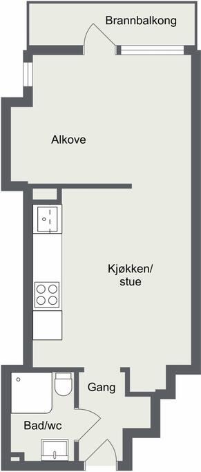 Oversikt over leiligheten