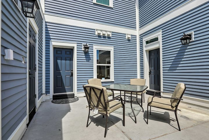 You'll have access to a shared patio with outdoor furniture.