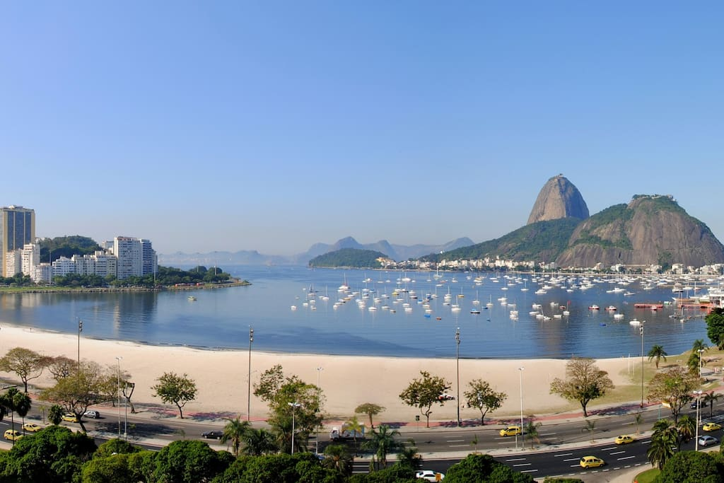 Botafogo Beach and Sugar Loaf.