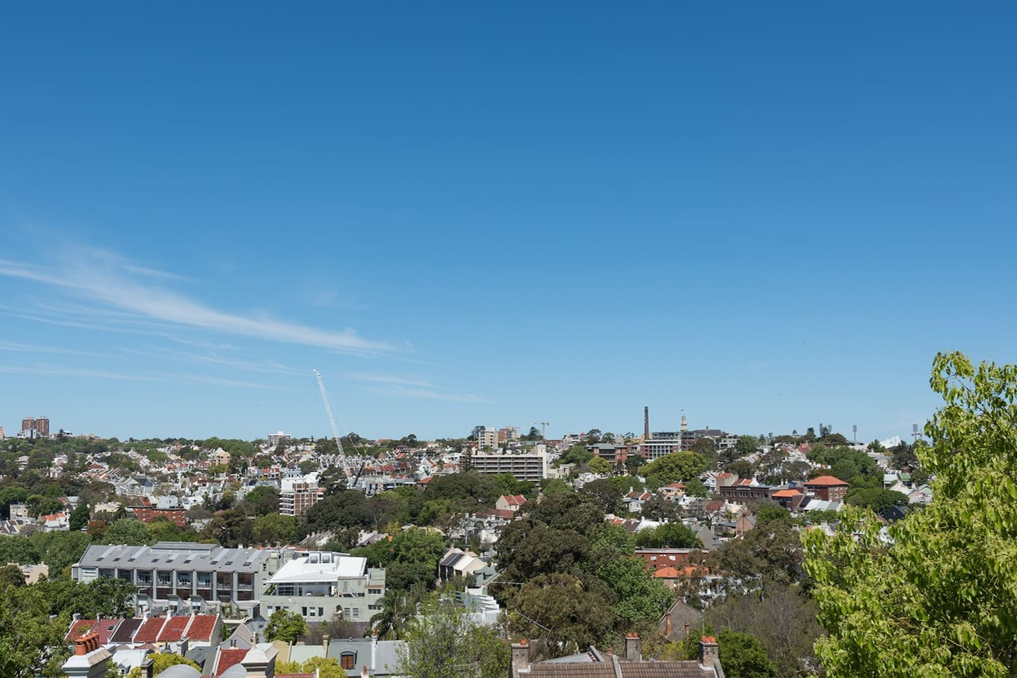 View over East Sydney from Dantosa Sydney Apartment.