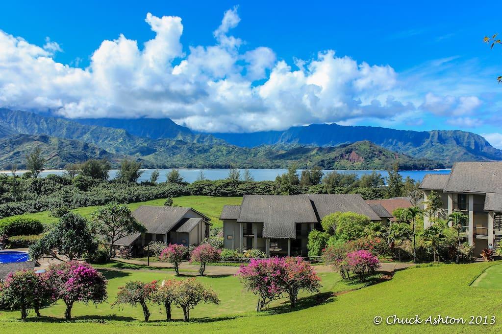 Exterior view of Hanalei Bay Resort Condos