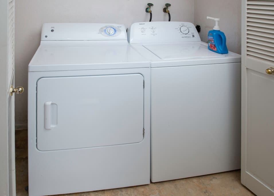 Washer & dryer are located in the garage.