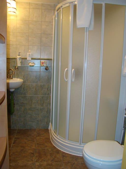 Salle-de-bain privée avec douche