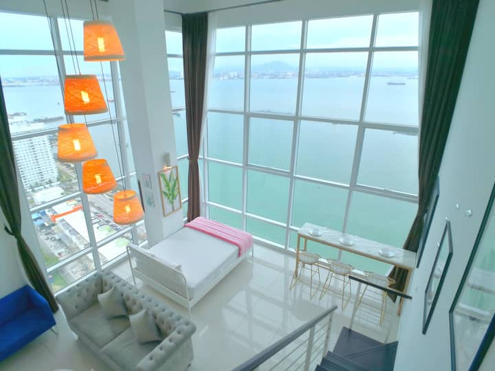 180° Sunrise Seaview Seaside Penthouse Duplex 日出海景