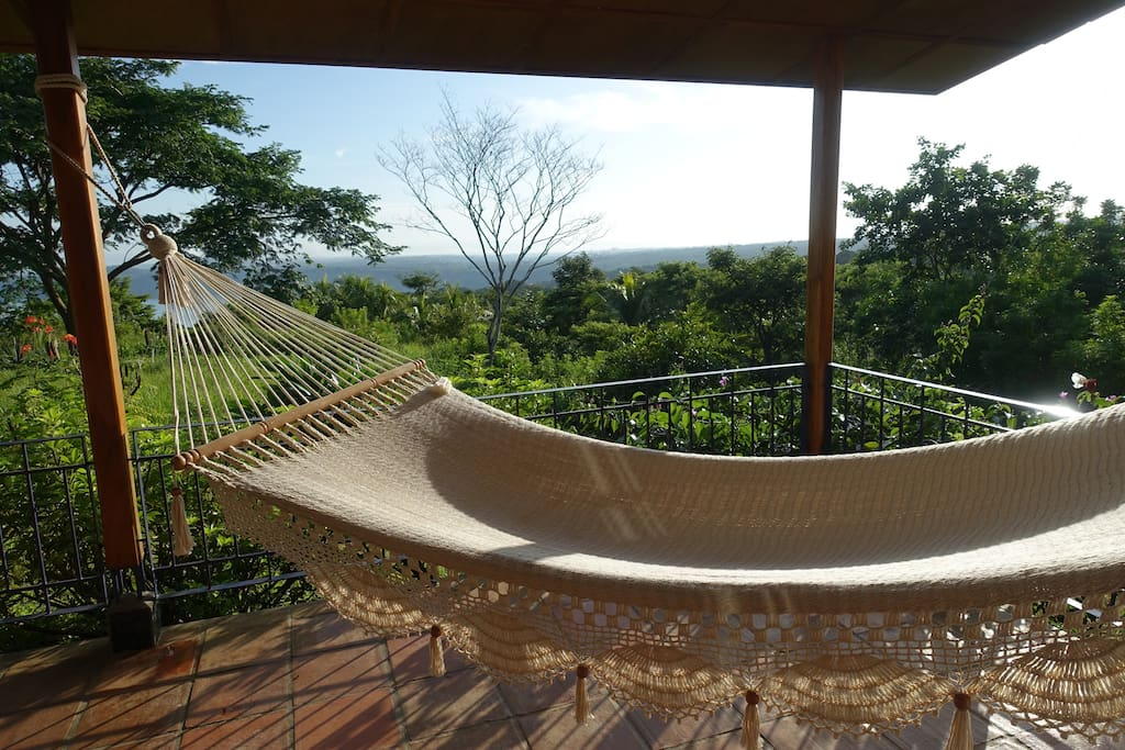 Panoramic view from the bungalow