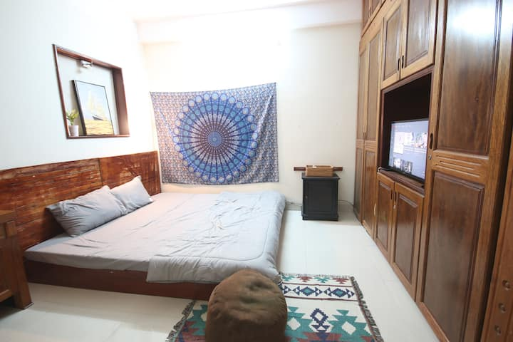 ★LAMIEHOUSE★1 BR★ King-size bed★4 MIN TO BEACH★