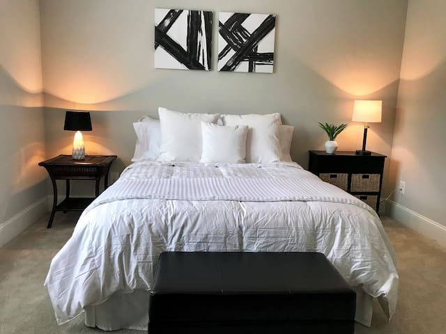 Raleigh Retreat, Luxury Bedroom Suite & Media Room