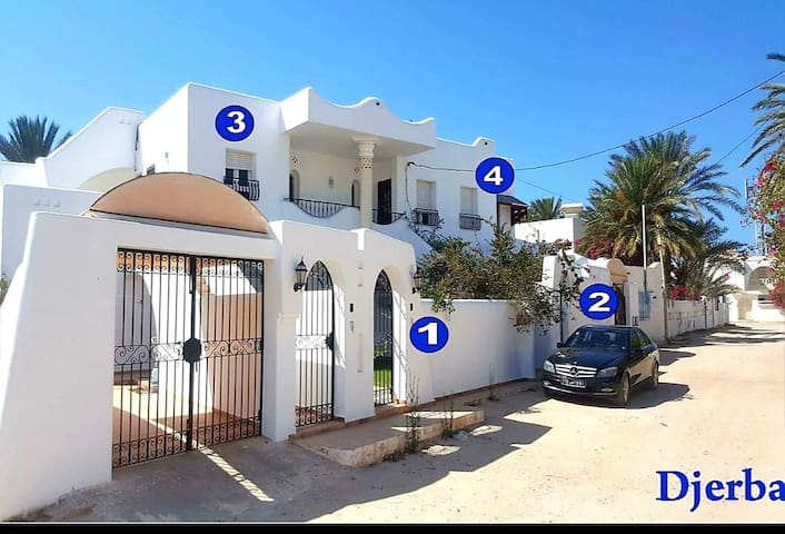 "appart  accueillant au zone touristique djerba""N1"""