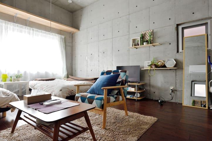位于日本桥的公寓,靠近难波、道顿堀和心斋桥