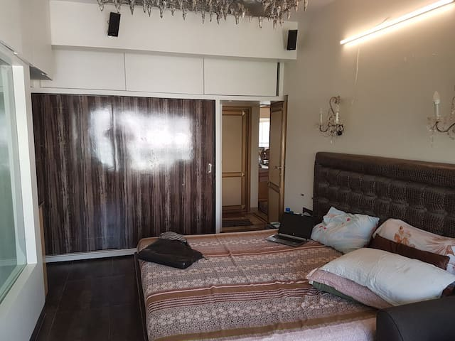 Perfect located bedroom with attached bathroom