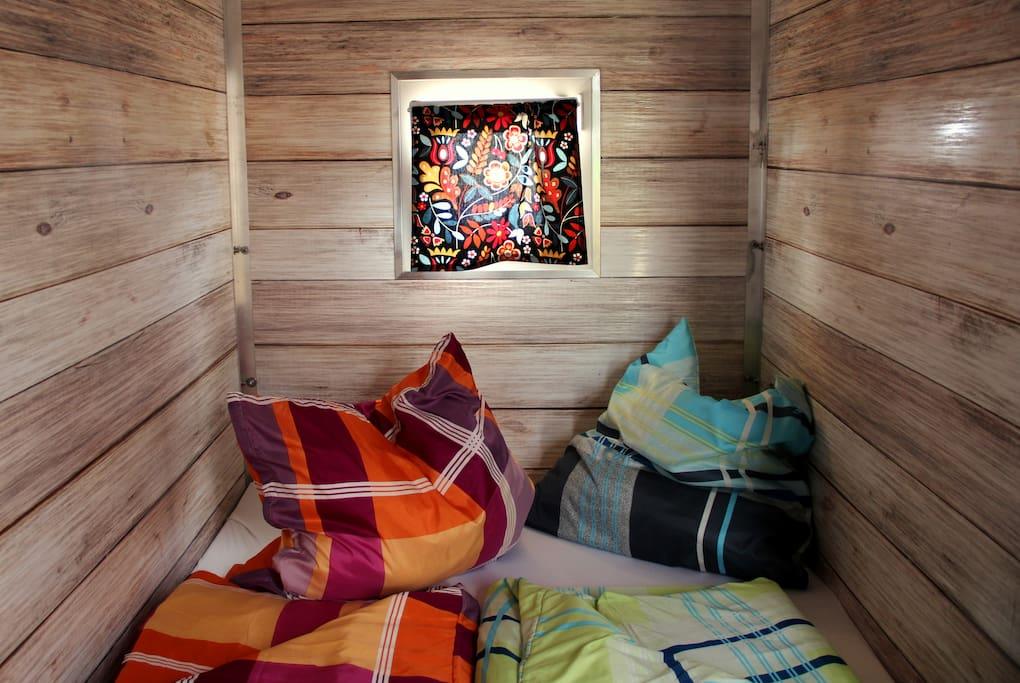 Bett für zwei in Deiner Lodge