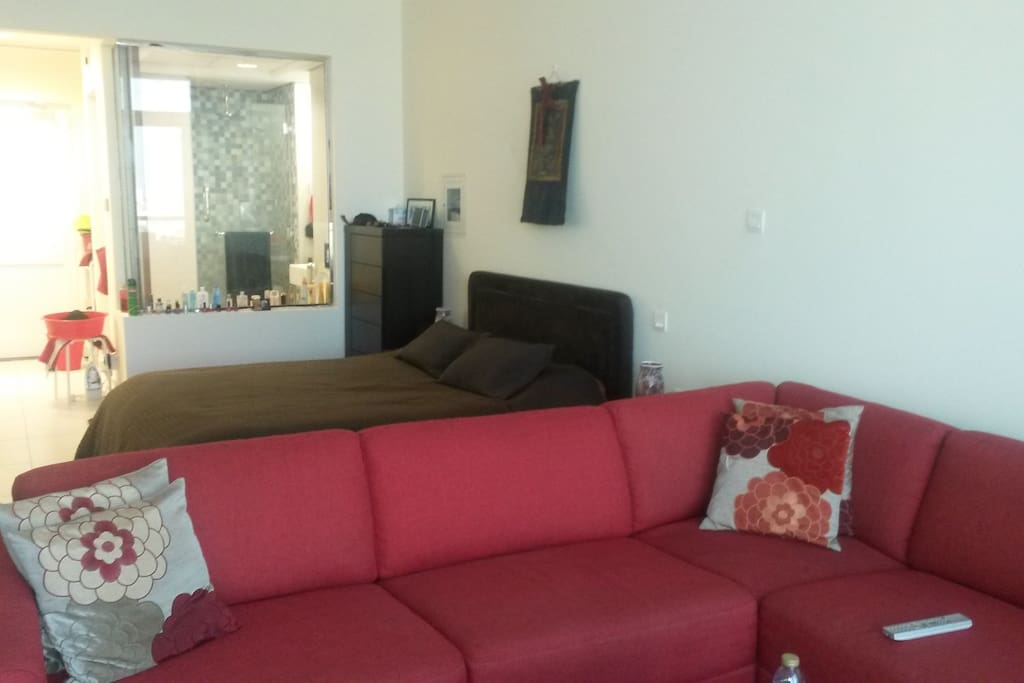 Living & bed area