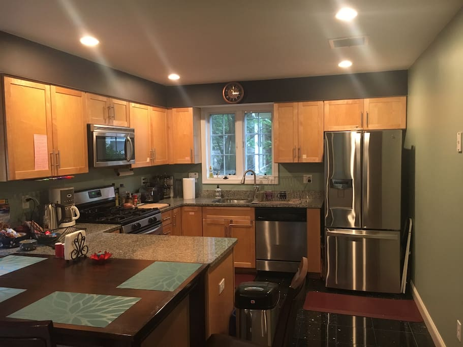 Full kitchen with gas stove, microwave, and dishwasher means you can easily cook delicious meals at home!