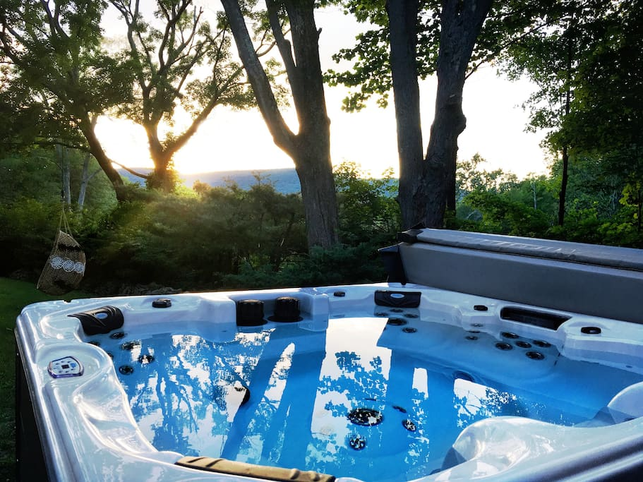Sun Set view from hot tub