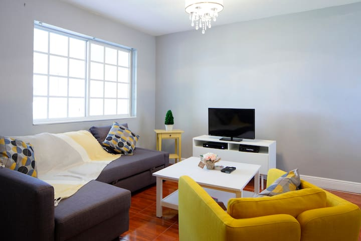 Living room with Full pullout couch