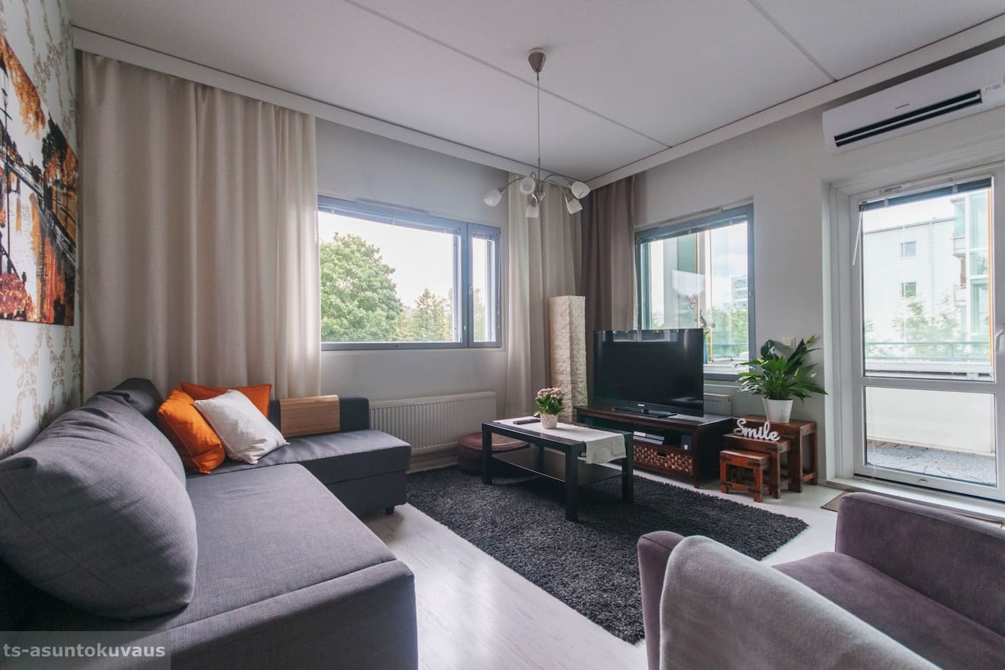 ⭐Air-conditioned two-room apartment with sauna⭐