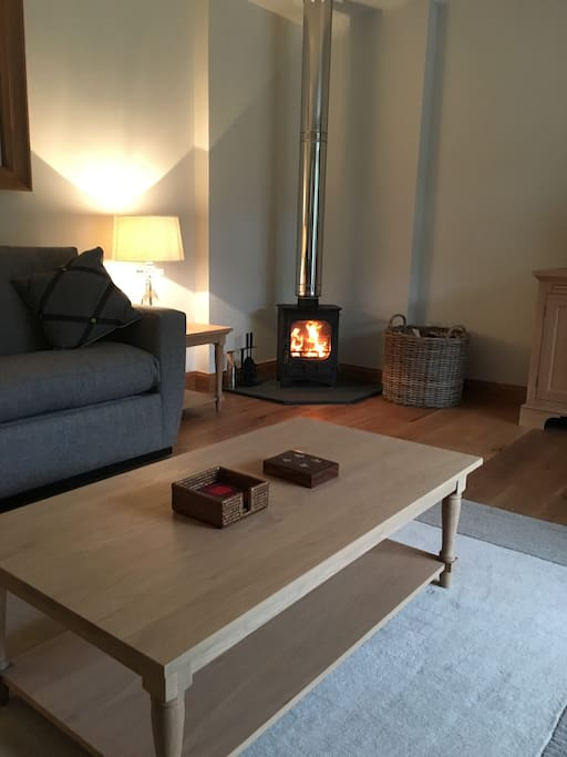 Woodburner stove (with wood supplied)