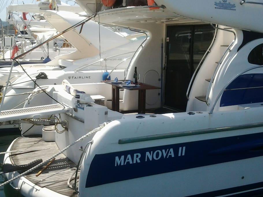 Pasarela automatica y entrada al barco