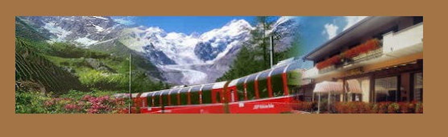 B&B La Sosta Gita col Trenino Rosso del Bernina - Villa di Tirano - Aamiaismajoitus