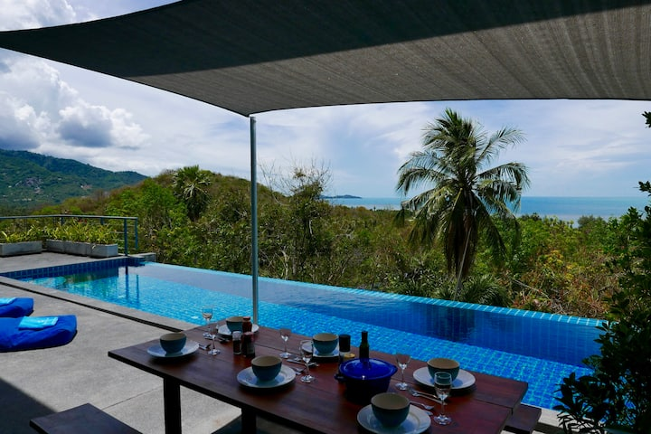 Beautiful tropical Seaview Pool Villa Philippa+car