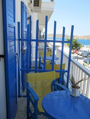 Front of the hotel.  View of the port.  To see videos of the rooms, please try you tube hotel parko channel.