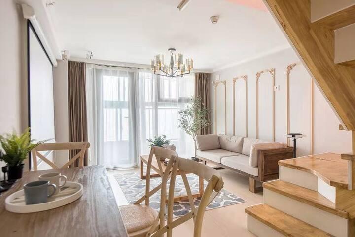 【秋兮】南京南/宜家法式两居公寓