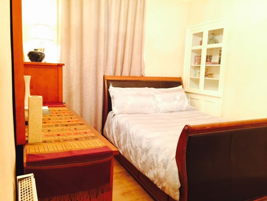 Double bedroom with King size bed very comfortable bed with cupboard inside cupboard with towel hanger pls see more pic just scroll down thank you