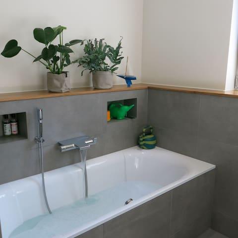 Our cosy bathtub