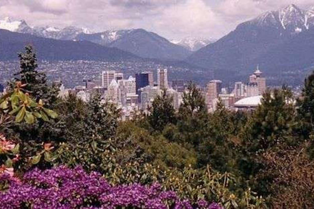 The view of Vancouver from QE Park is spectacular