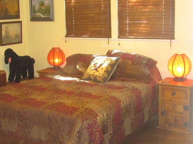 Master Bedroom in Dog Friendly Home