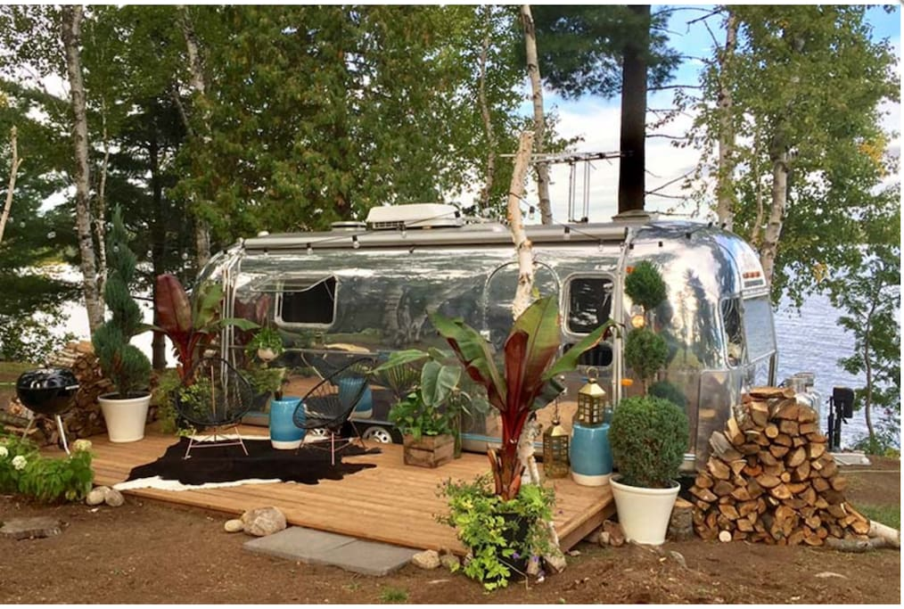 The most polished airstream you will ever see!  On the grounds of the gorgeous Northridge Inn!