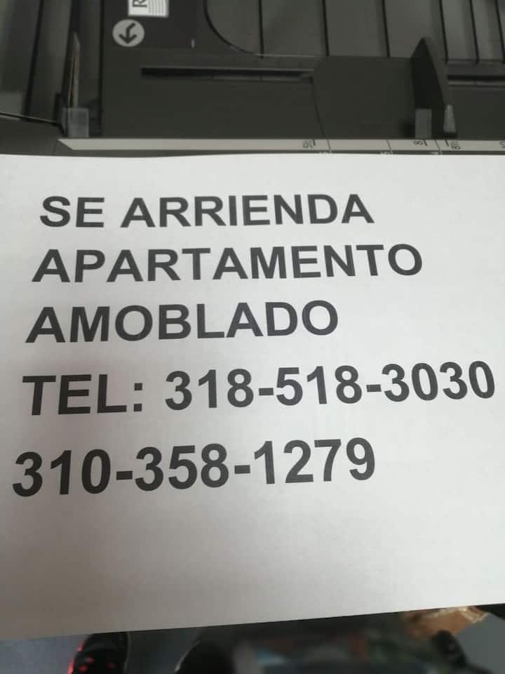 Se renta apartamento amoblado independiente