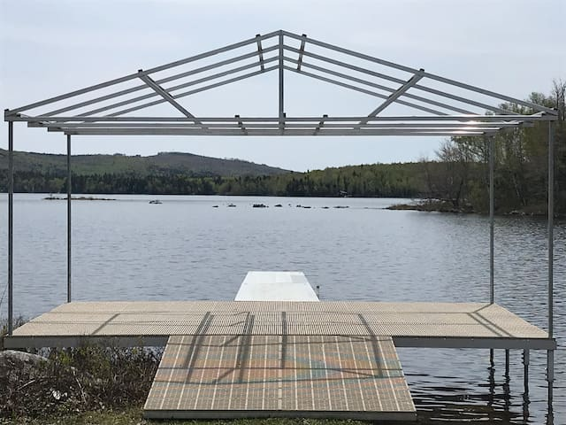 Wedding Dock and view of the lake