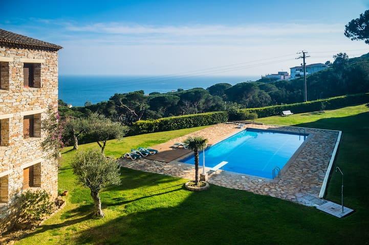 Apartamento con vista al mar y piscina, ref. AN-2 - Calella de Palafrugell - Apartmen