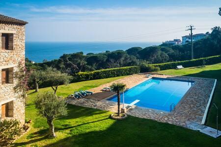 Apartamento con vista al mar y piscina, ref. AN-2 - Calella de Palafrugell