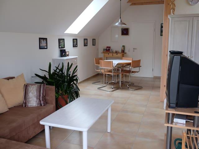 Ferienwohnung am Ried, (Wald-Ruhestetten), 1-Raum-Wohnung, 48qm, 1 Wohn-/Schlafraum, max. 3 Personen