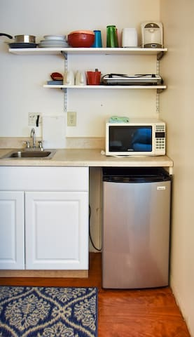 Kitchenette available in some units.