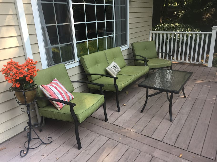 Cozy deck to sit back and relax!